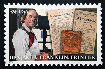 2006 Commemorative Postage Stamp of Benjamin Franklin