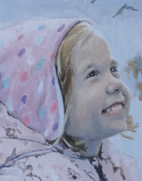 History Painting, little girl