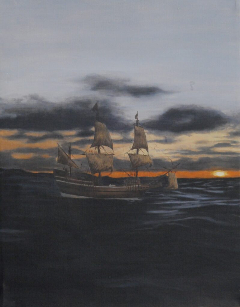 History painting ships