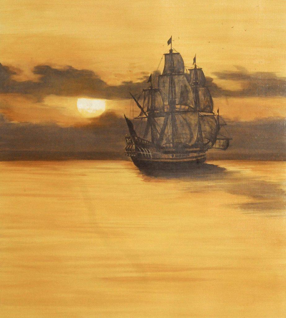 Historical art, ship